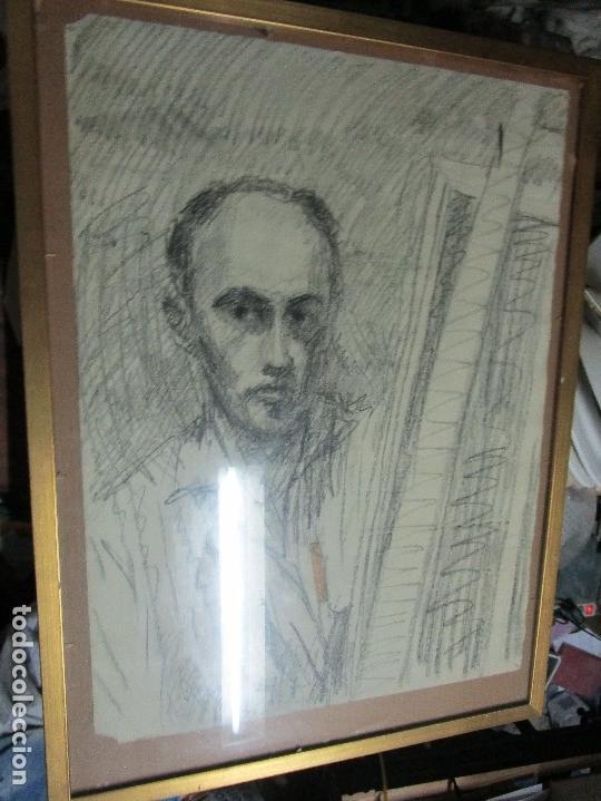 Varios objetos de Arte: autorretrato SALVADOR TORRES NARVAEZ PINTOR DE MALAGA1965 reverso esposa y dibujo de estudio - Foto 8 - 74861747