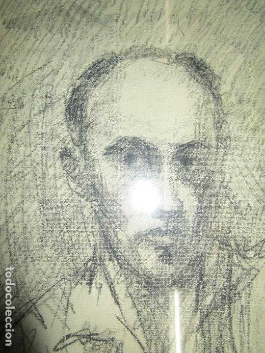 Varios objetos de Arte: autorretrato SALVADOR TORRES NARVAEZ PINTOR DE MALAGA1965 reverso esposa y dibujo de estudio - Foto 15 - 74861747