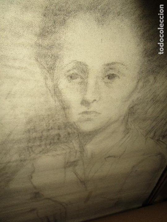 Varios objetos de Arte: autorretrato SALVADOR TORRES NARVAEZ PINTOR DE MALAGA1965 reverso esposa y dibujo de estudio - Foto 10 - 74861747