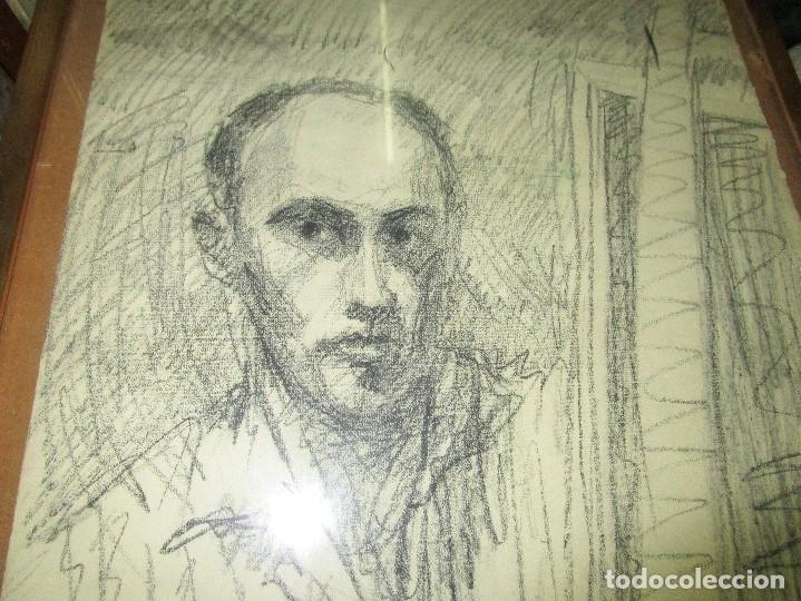 Varios objetos de Arte: autorretrato SALVADOR TORRES NARVAEZ PINTOR DE MALAGA1965 reverso esposa y dibujo de estudio - Foto 12 - 74861747