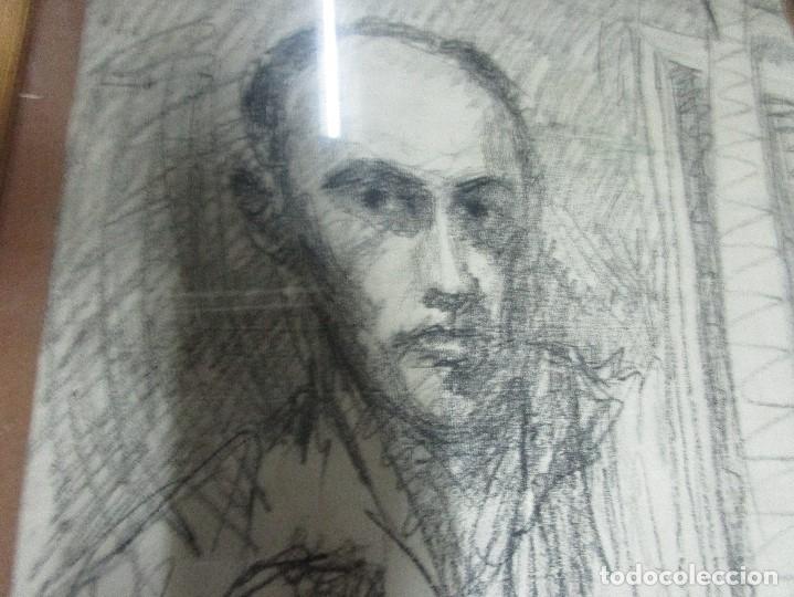 Varios objetos de Arte: autorretrato SALVADOR TORRES NARVAEZ PINTOR DE MALAGA1965 reverso esposa y dibujo de estudio - Foto 11 - 74861747