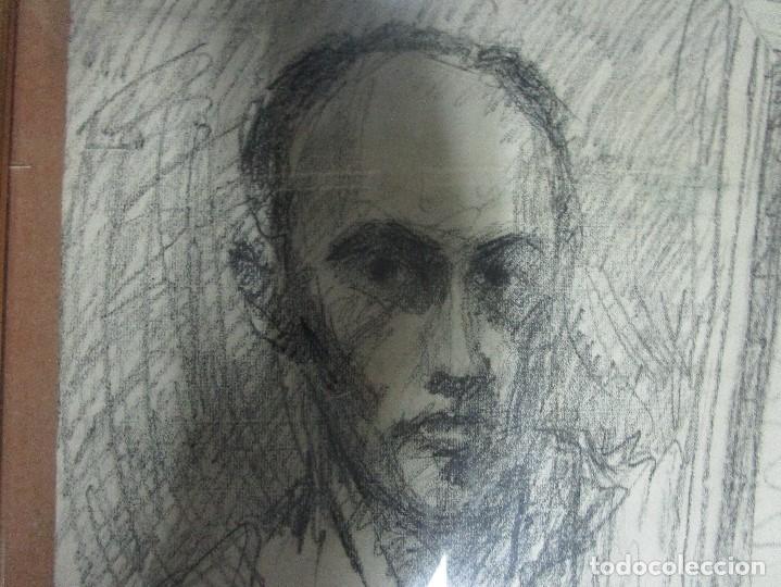 Varios objetos de Arte: autorretrato SALVADOR TORRES NARVAEZ PINTOR DE MALAGA1965 reverso esposa y dibujo de estudio - Foto 13 - 74861747