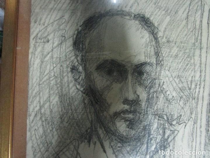 Varios objetos de Arte: autorretrato SALVADOR TORRES NARVAEZ PINTOR DE MALAGA1965 reverso esposa y dibujo de estudio - Foto 14 - 74861747