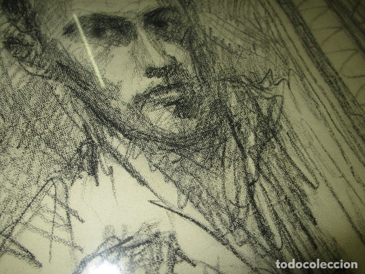 Varios objetos de Arte: autorretrato SALVADOR TORRES NARVAEZ PINTOR DE MALAGA1965 reverso esposa y dibujo de estudio - Foto 16 - 74861747