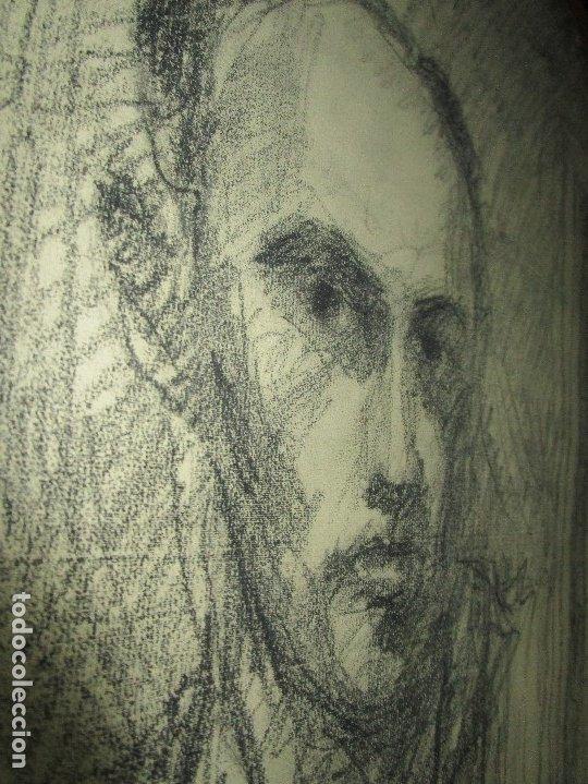 Varios objetos de Arte: autorretrato SALVADOR TORRES NARVAEZ PINTOR DE MALAGA1965 reverso esposa y dibujo de estudio - Foto 18 - 74861747