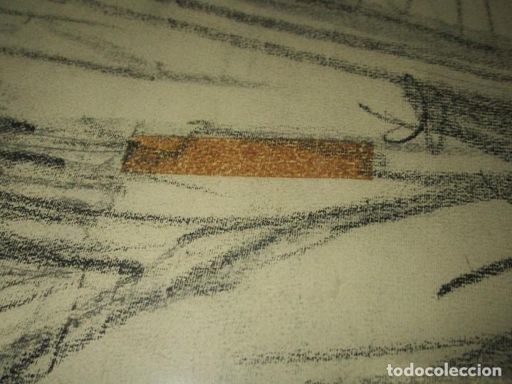 Varios objetos de Arte: autorretrato SALVADOR TORRES NARVAEZ PINTOR DE MALAGA1965 reverso esposa y dibujo de estudio - Foto 20 - 74861747