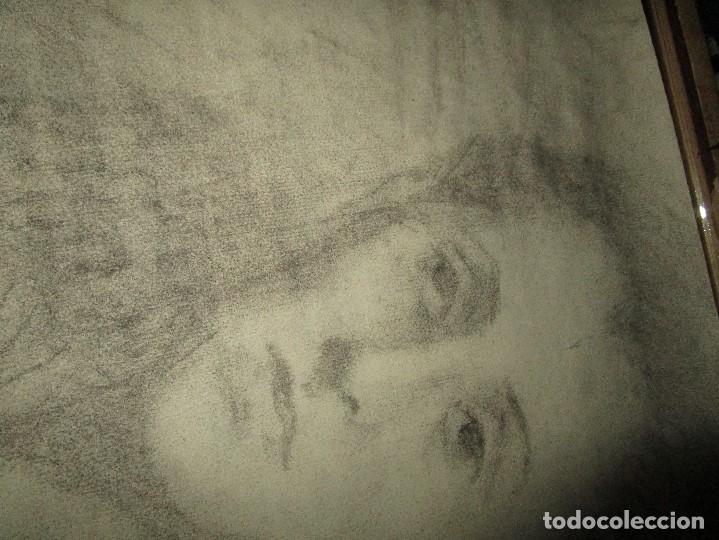 Varios objetos de Arte: autorretrato SALVADOR TORRES NARVAEZ PINTOR DE MALAGA1965 reverso esposa y dibujo de estudio - Foto 17 - 74861747