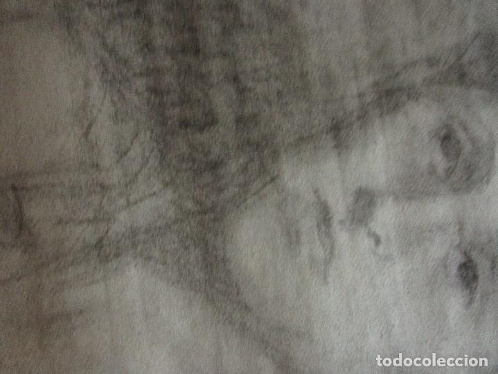 Varios objetos de Arte: autorretrato SALVADOR TORRES NARVAEZ PINTOR DE MALAGA1965 reverso esposa y dibujo de estudio - Foto 21 - 74861747