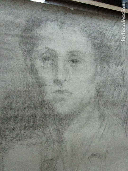 Varios objetos de Arte: autorretrato SALVADOR TORRES NARVAEZ PINTOR DE MALAGA1965 reverso esposa y dibujo de estudio - Foto 23 - 74861747