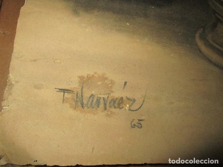 Varios objetos de Arte: autorretrato SALVADOR TORRES NARVAEZ PINTOR DE MALAGA1965 reverso esposa y dibujo de estudio - Foto 28 - 74861747