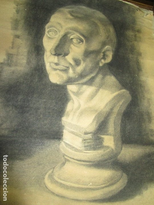 Varios objetos de Arte: autorretrato SALVADOR TORRES NARVAEZ PINTOR DE MALAGA1965 reverso esposa y dibujo de estudio - Foto 30 - 74861747