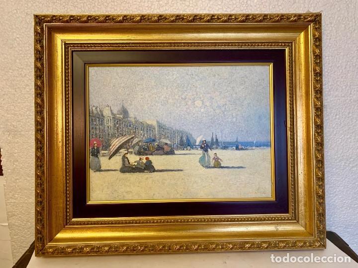 OLEO SOBRE TABLA PARISINO FIRMADO (Arte - Varios Objetos de Arte)