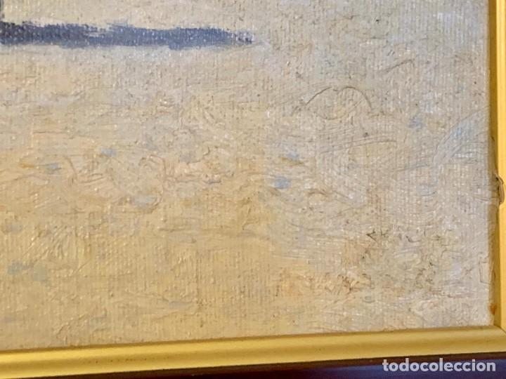 Varios objetos de Arte: OLEO SOBRE TABLA PARISINO FIRMADO - Foto 2 - 152240310