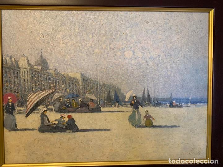 Varios objetos de Arte: OLEO SOBRE TABLA PARISINO FIRMADO - Foto 3 - 152240310