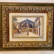 Varios objetos de Arte: OLEO SOBRE TABLA FIRMADO P. LOZANO. Lote 152242422