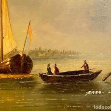 Varios objetos de Arte: OLEO SOBRE TABLA FIRMADO. Lote 152243650