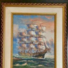 Varios objetos de Arte: OLEO SOBRE TABLA FIRMADO. Lote 152245970