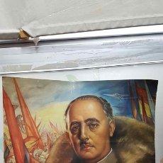 Varios objetos de Arte: LAMINA: PAPEL APERGAMINADO. RETRATO DE FRANCISCO FRANCO BAHAMONDE. Lote 140442193