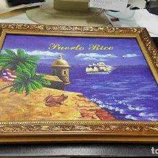 Varios objetos de Arte: CUADRO: DE UNA EMBARCACION DE VELA NAVEGANDO. PUERTO RICO. Lote 140442360