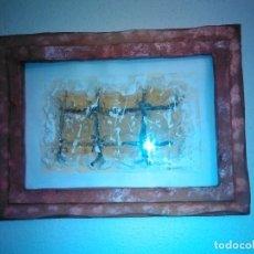 Varios objetos de Arte: PINTURA CUADRO RELIEVE TAPIA ARTEAGA, MARCO DEL PROPIO ARTISTA.. Lote 152371462