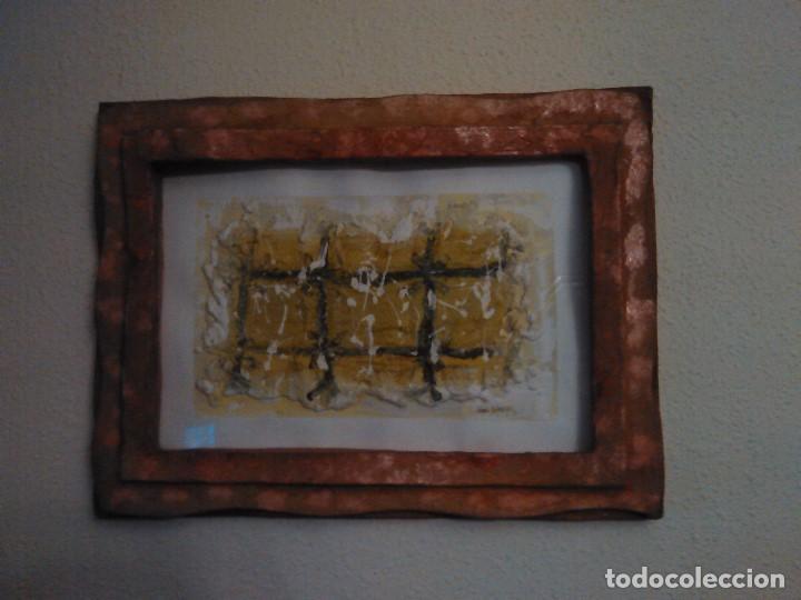 Varios objetos de Arte: PINTURA cuadro relieve TAPIA ARTEAGA, marco del propio artista. - Foto 2 - 152371462