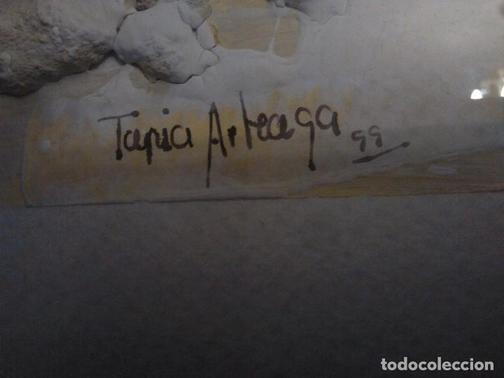 Varios objetos de Arte: PINTURA cuadro relieve TAPIA ARTEAGA, marco del propio artista. - Foto 3 - 152371462
