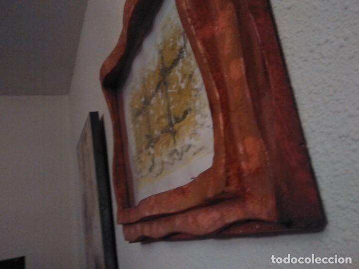 Varios objetos de Arte: PINTURA cuadro relieve TAPIA ARTEAGA, marco del propio artista. - Foto 4 - 152371462