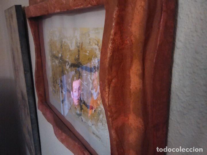 Varios objetos de Arte: PINTURA cuadro relieve TAPIA ARTEAGA, marco del propio artista. - Foto 5 - 152371462