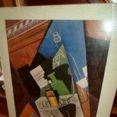 Varios objetos de Arte: CARTEL EXPOSICIÓN JUAN GRIS (1887-1927) MADRID 1985 MINISTERIO DE CULTURA BANCO DE BILBAO 69 X 49 CM. Lote 152472362