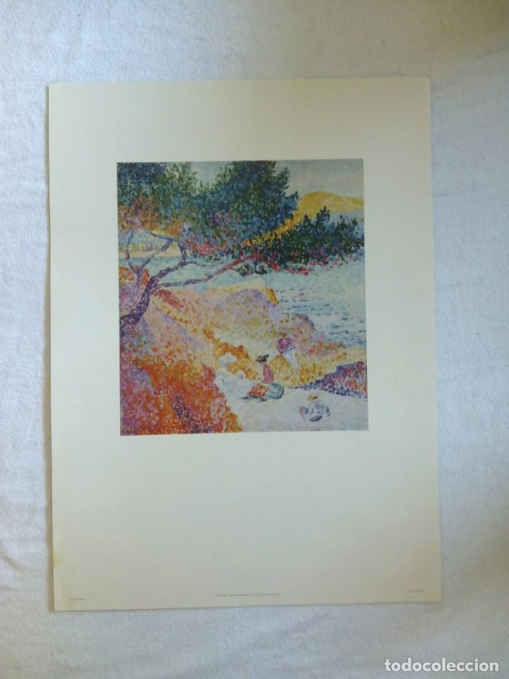 Varios objetos de Arte: Lámina H. E. CROSS La playa de Santa Clara Musée de L'Annonciade St Tropez *LA PLAGE DE SAINT-CLAIRE - Foto 3 - 152776542