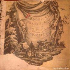 Varios objetos de Arte: POR DIOS, POR LA PATRIA Y EL REY. Lote 153153242
