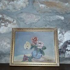 Varios objetos de Arte: CUADRO FLORERO DE L NIC'OL PINTADO SOBRE MADERA. Lote 153722534