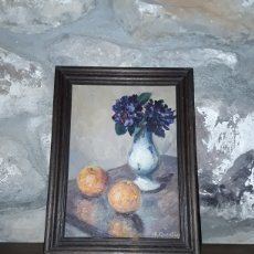 Varios objetos de Arte: BODEGON PINTADO SOBRE MADERA DE R QUENTIN. Lote 153724276