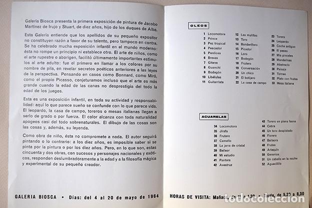 Varios objetos de Arte: Jacobo Martínez de Irujo · Díptico Galería Biosca, Madrid, 1964. Siruela - Foto 2 - 154027386