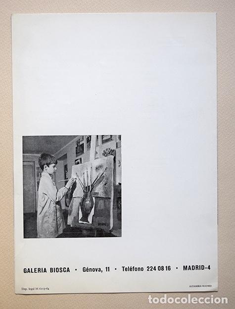 Varios objetos de Arte: Jacobo Martínez de Irujo · Díptico Galería Biosca, Madrid, 1964. Siruela - Foto 3 - 154027386