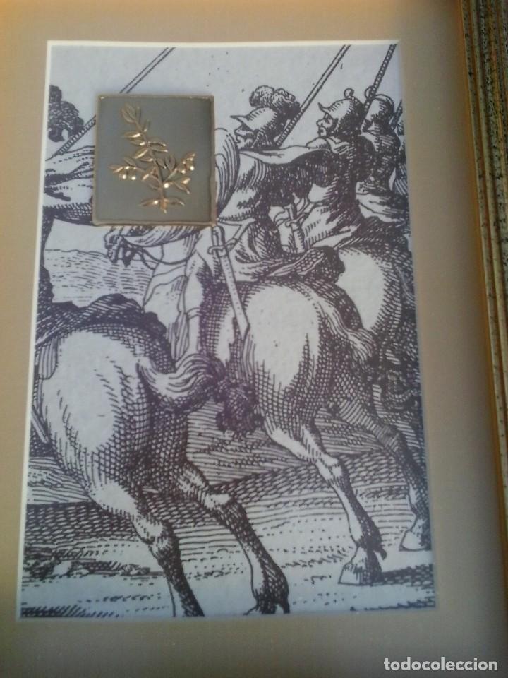 ESLOVENIA CUADRO CON GRÁFICO Y GRABADO DE RAMA DE OLIVO MINISTRY OF DEFENCE JANEZ VAJKARD VALVAZOR (Arte - Varios Objetos de Arte)