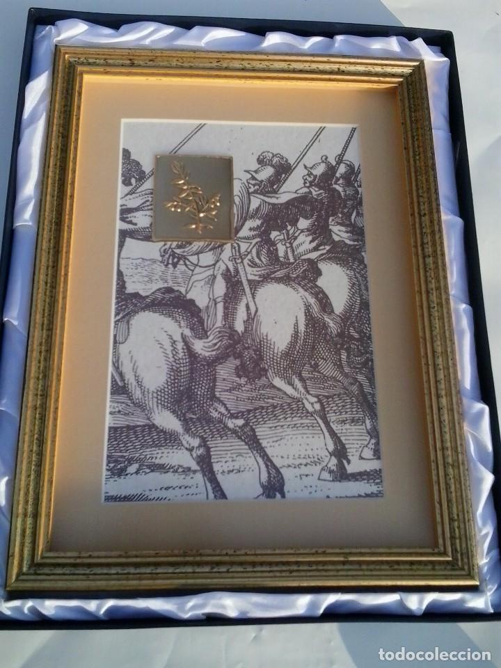 Varios objetos de Arte: Eslovenia cuadro con gráfico y grabado de rama de olivo Ministry of Defence Janez Vajkard Valvazor - Foto 3 - 154109150