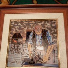 Varios objetos de Arte: CUADRO HERRERO ESMALTADO. Lote 154324473