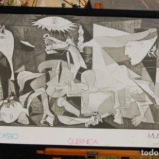 Varios objetos de Arte: PÓSTER DEL GUERNICA DE PICASSO. BIEN ENMARCADO EN 57 X 102.. Lote 154422614