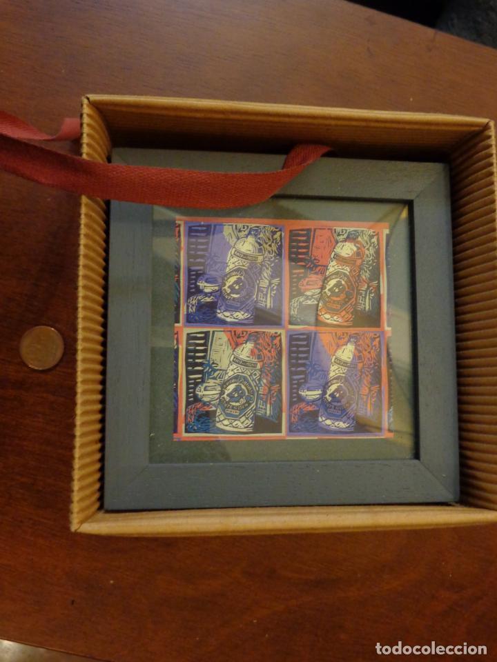 Varios objetos de Arte: Seis pequeños cuadros inspirados en motivos publicidad - Anís del mono -El Caserío - Ortiz - en caja - Foto 2 - 154684914
