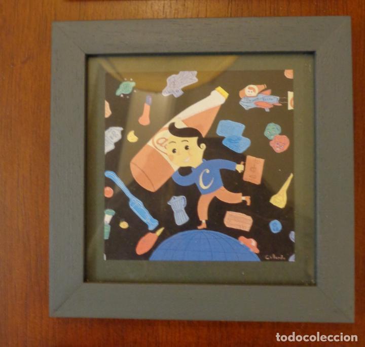 Varios objetos de Arte: Seis pequeños cuadros inspirados en motivos publicidad - Anís del mono -El Caserío - Ortiz - en caja - Foto 3 - 154684914