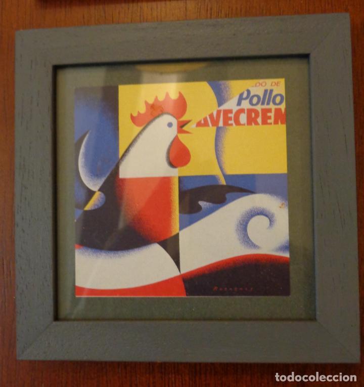 Varios objetos de Arte: Seis pequeños cuadros inspirados en motivos publicidad - Anís del mono -El Caserío - Ortiz - en caja - Foto 4 - 154684914