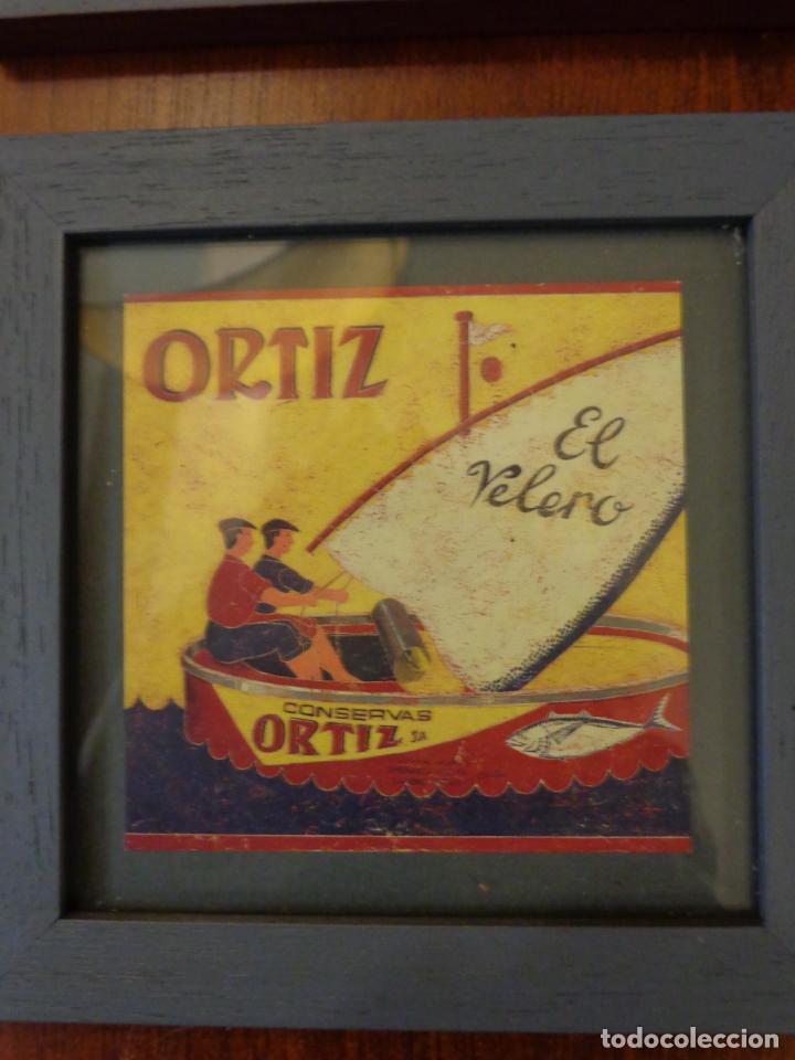 Varios objetos de Arte: Seis pequeños cuadros inspirados en motivos publicidad - Anís del mono -El Caserío - Ortiz - en caja - Foto 5 - 154684914