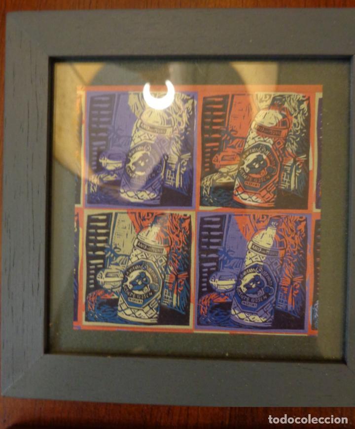 Varios objetos de Arte: Seis pequeños cuadros inspirados en motivos publicidad - Anís del mono -El Caserío - Ortiz - en caja - Foto 6 - 154684914