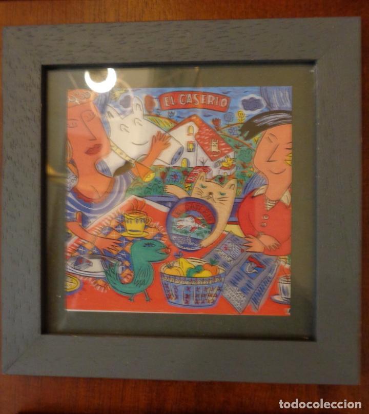 Varios objetos de Arte: Seis pequeños cuadros inspirados en motivos publicidad - Anís del mono -El Caserío - Ortiz - en caja - Foto 7 - 154684914
