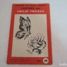 Varios objetos de Arte: LAMINAS POR EMILIO FREIXAS / LECCIONES DE DIBUJO ARTISTICO / SERIE 36. Lote 154686570