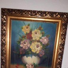 Varios objetos de Arte: CUADRO DE FLORES. Lote 154714562