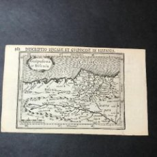 Varios objetos de Arte: MAPA DE VIZCAYA, GUIPUZCOA, NAVARRA Y ASTURIAS DE SANTILLANA. MERCATOR-HONDIUS, AÑO 1630.. Lote 154846626