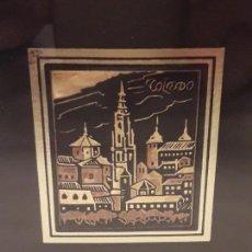 Varios objetos de Arte: PRECIOSO CUADRO ORO DAMASQUINADO TOLEDO. Lote 155230338