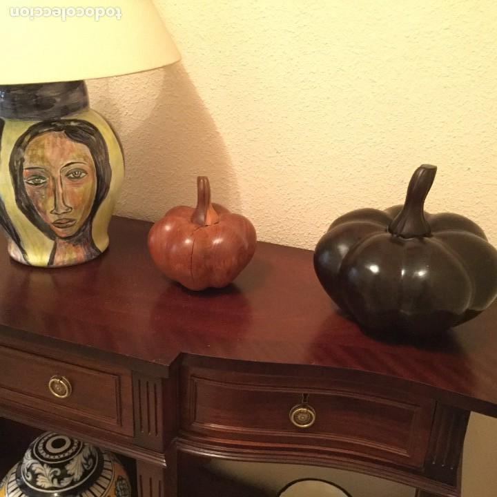 Varios objetos de Arte: Conjunto de tres calabazas madera maciza - Foto 4 - 155335430